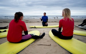 Surf Lesson surf coach Saltburn Surf School