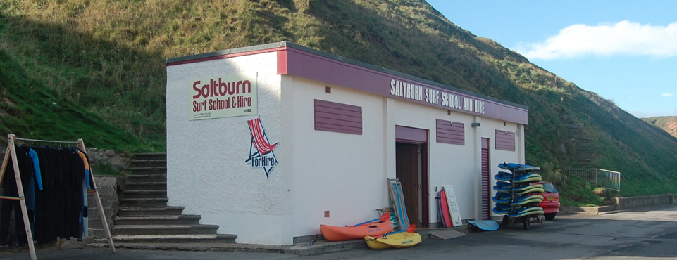 Our office in Saltburn By The Sea, vsit us for lessons, hire and shop